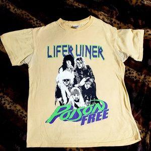 poison free lifer liner t shirt